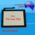 iPad 3 touch screen with home button assembly and adhesive tape attached [Black]
